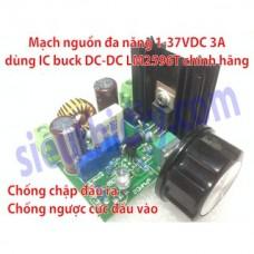 Mạch nguồn đa năng 1-37VDC 3A dùng ic LM2596T chính hãng sPWMD2
