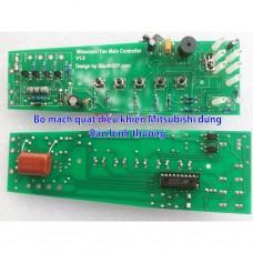 Bộ vỉ mạch quạt điều khiển Mitsubishi LV 16 RT RS thay thế sửa chữa triệt để