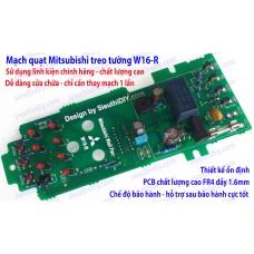 Mạch quạt điều khiển Mitsubishi treo tường W16-RT/RS thay thế sửa chữa triệt để