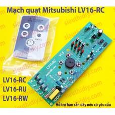 Mạch quạt điều khiển từ xa Mitsubishi đứng LV16-RC-RU-RW đời cũ