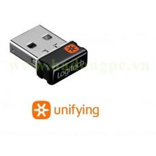 Đầu thu USB Logitech Unifying USB Receiver cho chuột - bàn phím không dây có logo Unifying mặt trời sáu cánh da cam