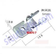 Cốt đực KET 6.3mm hàn mạch PCB cong chân chống nghiêng, đồng dày 0.8mm