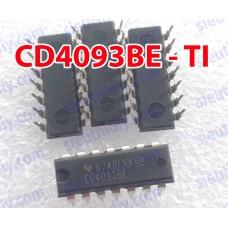 IC CD4093BE DIP14 chính hãng TI - Quad 2-Input NAND Schmitt Trigger