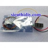 Vôn kế số 0-100VDC 0.28 inch 3 dây led các màu đỏ, vàng, xanh lá, xanh lơ