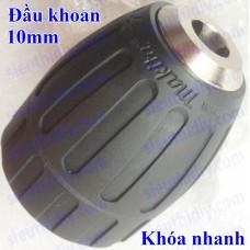 Đầu khoan Makita Nhật Bản 10mm măng ranh chính hãng khóa nhanh nhựa - thép
